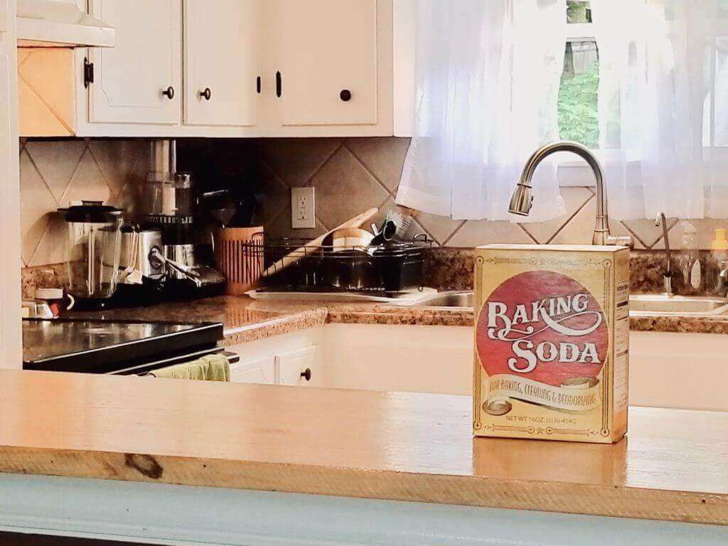 Baking soda cleans and brightens your kitchen.